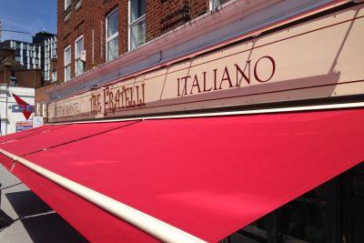 Italian Restaurant Awning