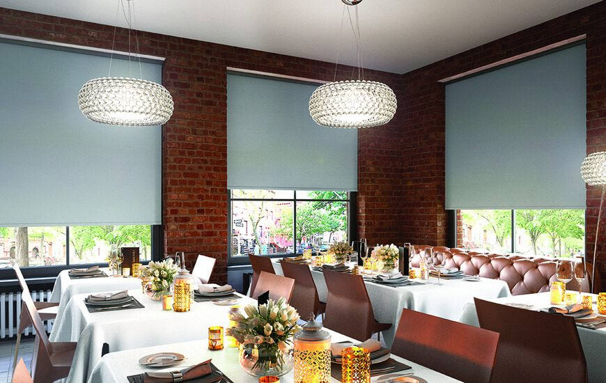 Commercial Roller Blinds for restaurants and more