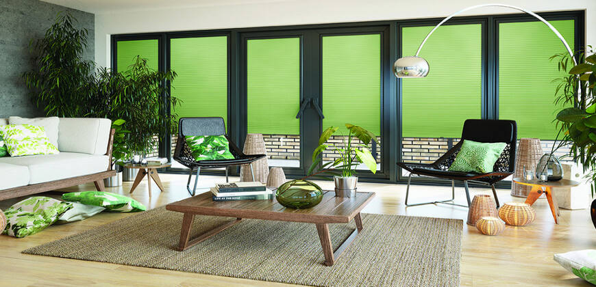 Domestic Electric Pleated Blinds
