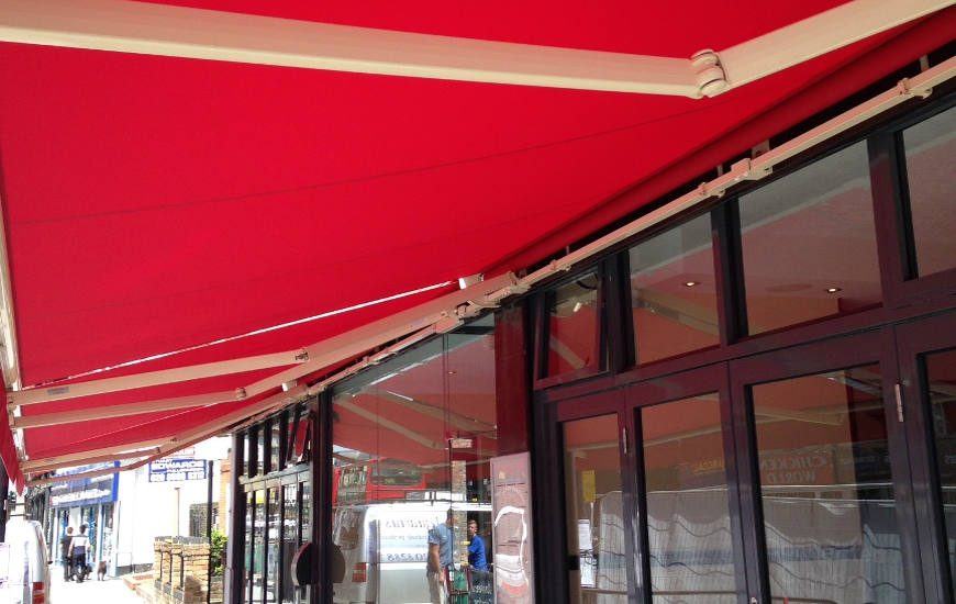 Restaurant Awnings For London Surrey And The South East Aq Blinds
