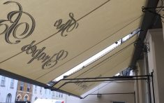 Commercial awning underside