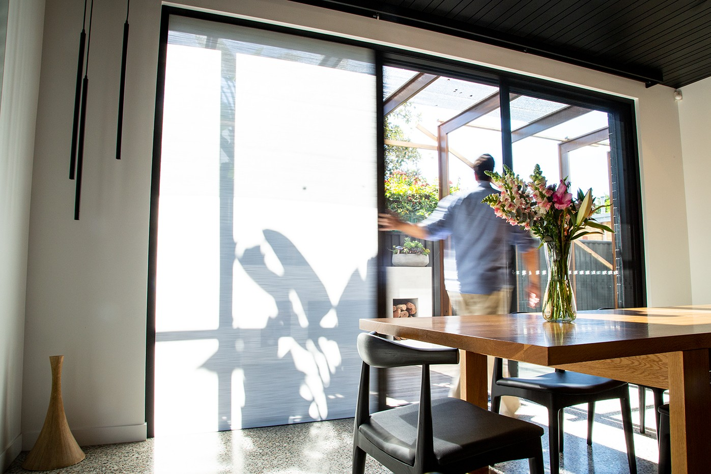 Sideways Sliding Door Blinds - Light Blocking