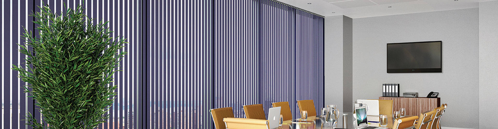 Commercial vertical blinds hero image