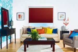 Domestic Duette Blinds for your living room