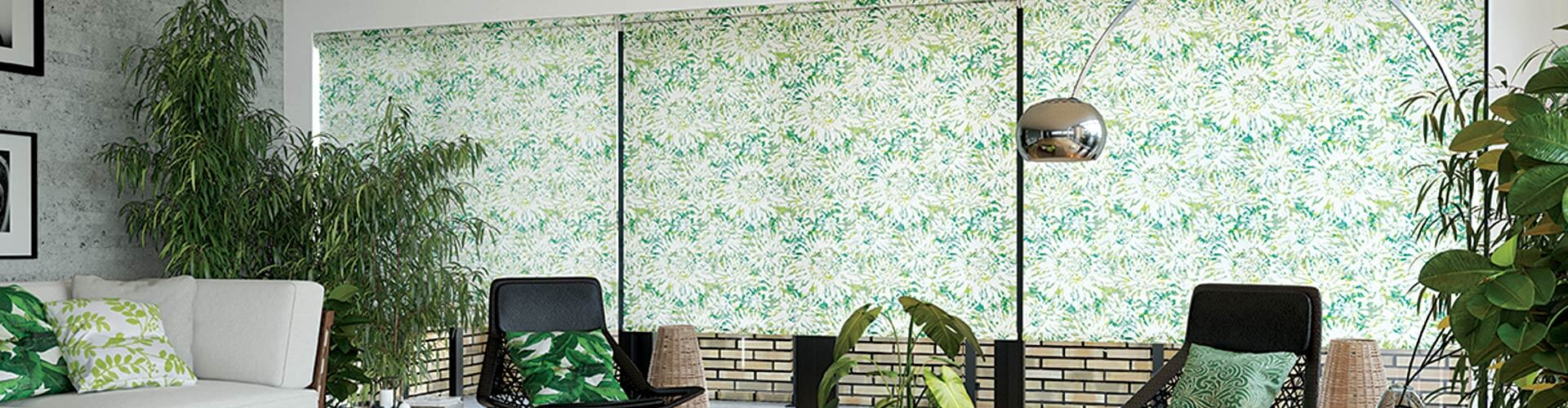 Domestic Roller Blinds available in a range of styles and colours