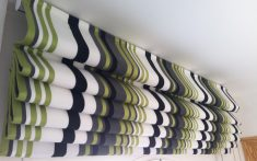 Domestic Roman Blinds close up