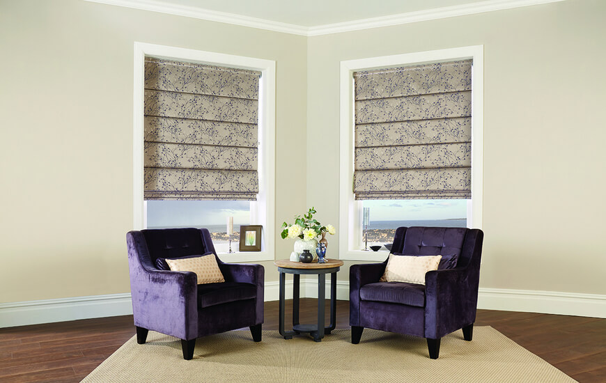 Domestic Roman Blinds for Living Room