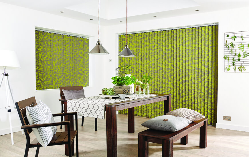 Green Domestic Vertical Blinds