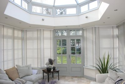 Domestic Wood Venetian Blinds for conservatories