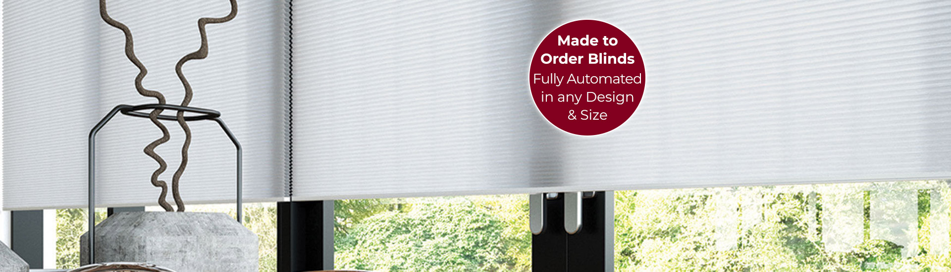 Electric Duette Blinds with Sticker