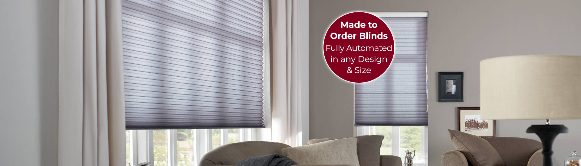 Electric Pleated Blinds with Sticker