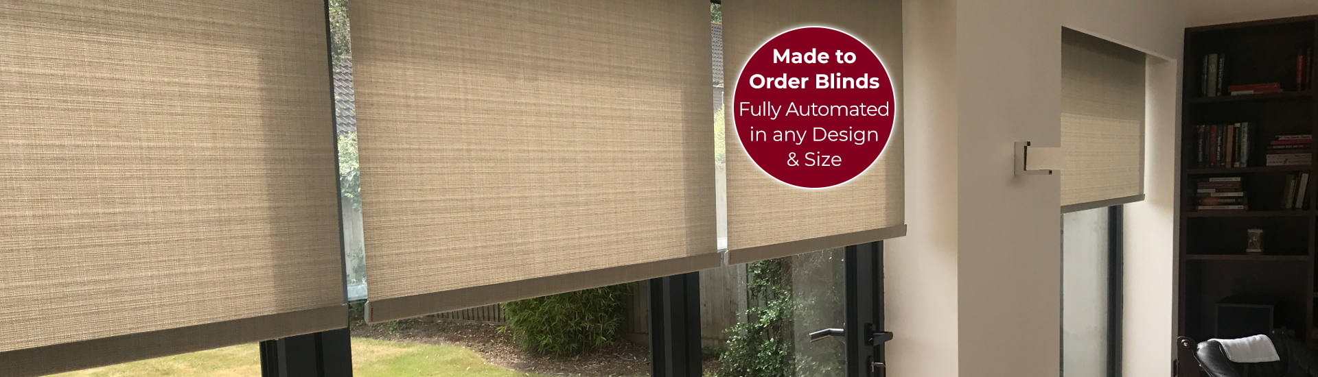 Electric Roller Blinds with Sticker