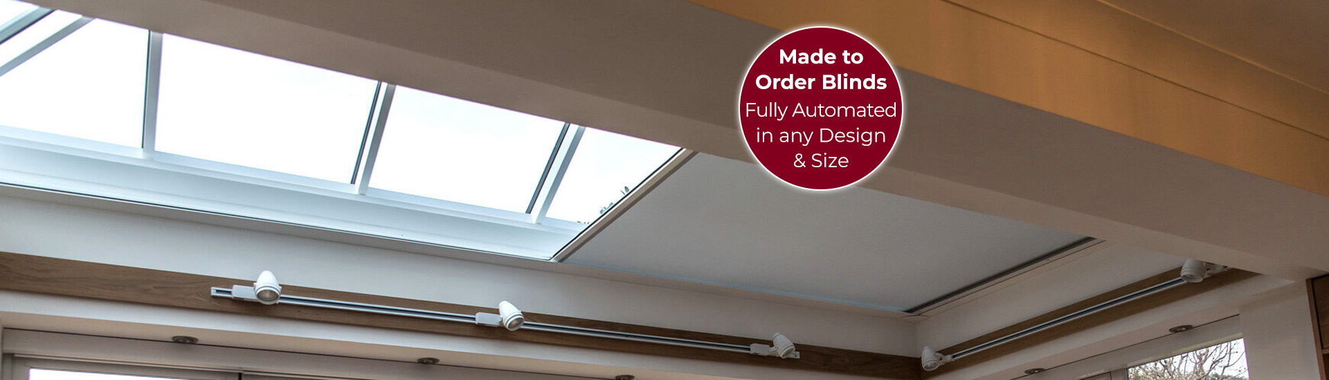 Electric Skylight Blinds with Sticker