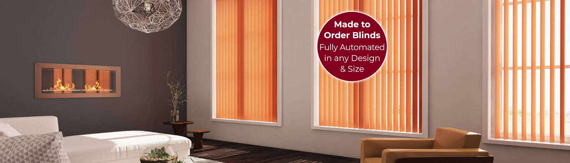 Electric Vertical Blinds with Sticker