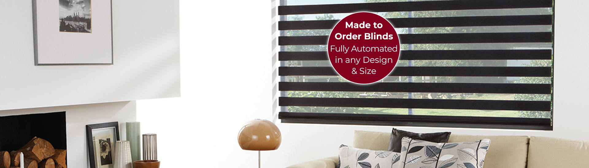 Electric Vision Blinds with Sticker