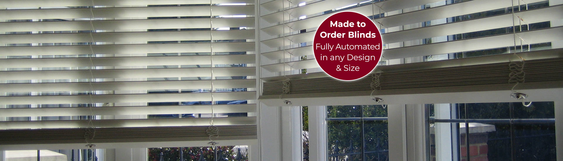 Electric Wood Venetian Blinds with Sticker