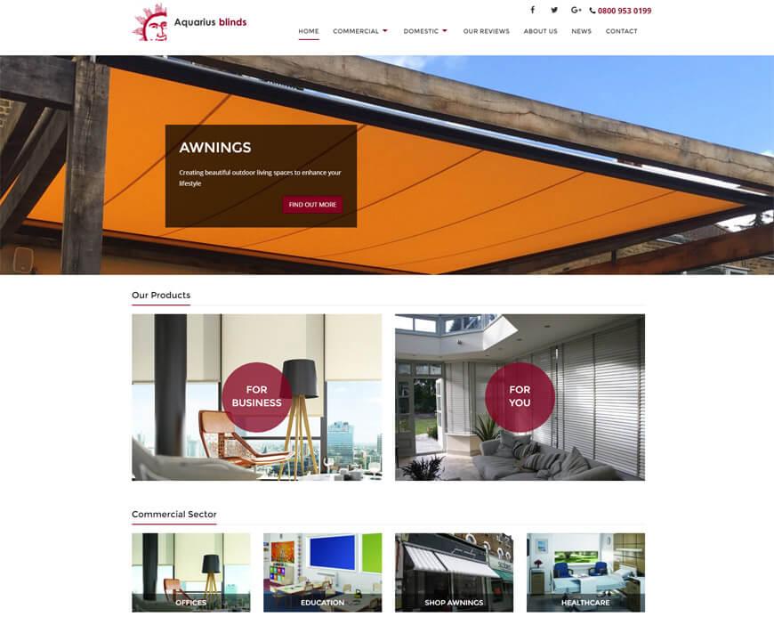 Aquarius Blinds Web Site